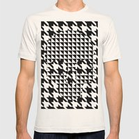 houndstooth skull #1 Mens Fitted Tee Natural SMALL