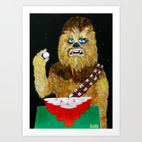 BEER PONG WOOKIE Art Print