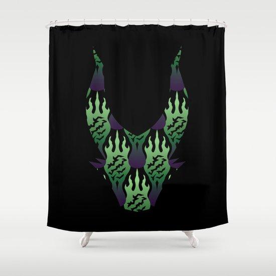 SCORCH pattern ~ Maleficent  Shower Curtain