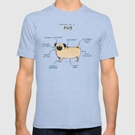 Anatomy Of A Pug Mens Fitted Tee Tri-Blue SMALL