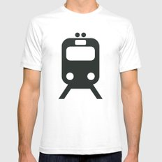 Train Mens Fitted Tee SMALL White