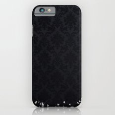 Diamonds on black damask iPhone 6 Slim Case