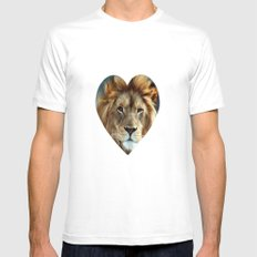 LION - Aslan Mens Fitted Tee White SMALL