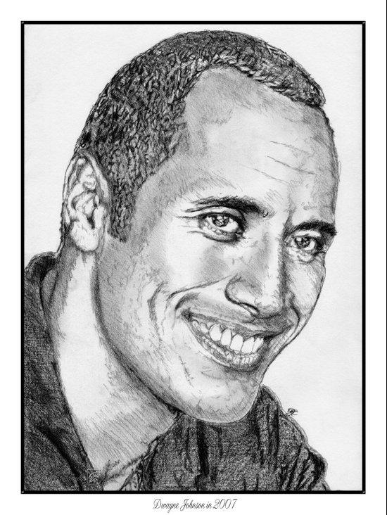 Dwayne Johnson in 2007 Art Print