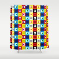 Squares Pattern Shower Curtain