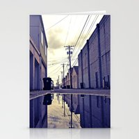 Alley waterfront Stationery Cards