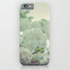 Spring white flowers iPhone 6s Slim Case