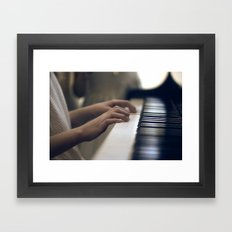 piano hands Framed Art Print