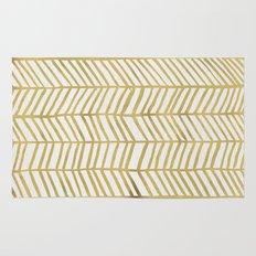 Gold Herringbone Rug