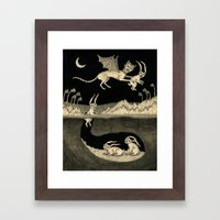 An Abrupt Farewell Framed Art Print