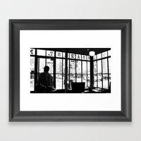 New York Café Framed Art Print