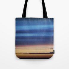 Blue Streaky Clouds Tote Bag