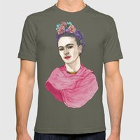 Frida Kahlo Mens Fitted Tee Lieutenant SMALL