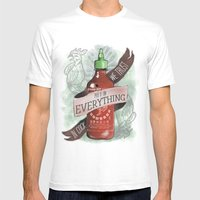 An Ode To Sriracha Mens Fitted Tee White SMALL