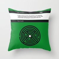 No024 MY City of Glass Book Icon poster Throw Pillow