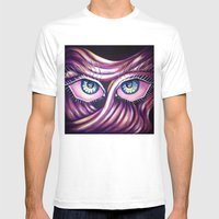 Emotional Eyes Mens Fitted Tee White SMALL