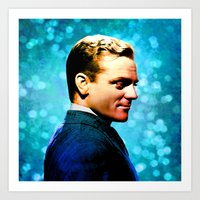 James Cagney, blue screen Art Print
