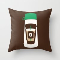 The Coffee Stacker Throw Pillow