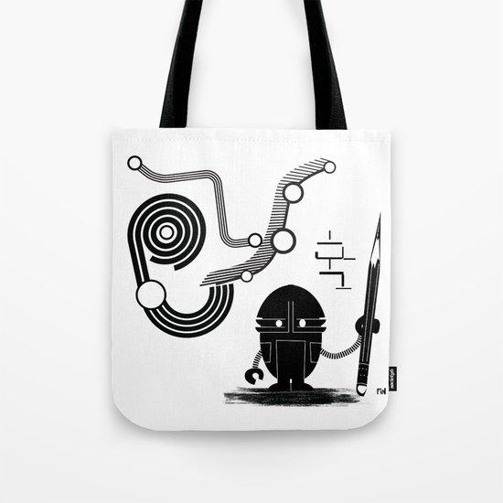 Robot Graffiti  Tote Bag