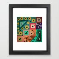 crazy triangles Framed Art Print