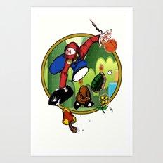 Mario landS Art Print