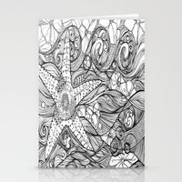 Starfish went out swimming Stationery Cards