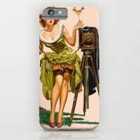 iPhone & iPod Case featuring Vintage Camera Pinup girl  by TilenHrovatic