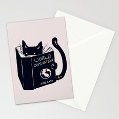World Domination For Cats Stationery Cards