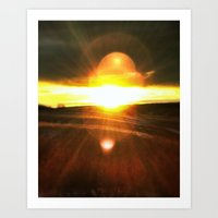 Heliosphere Rising Art Print