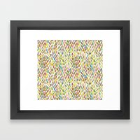 Brush stroke warm summer Framed Art Print