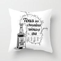 Tous Les Chemins... Throw Pillow