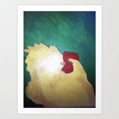 Hen. Art Print