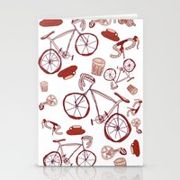 Bikes and Coffee Stationery Cards