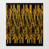 vertical brush orange version Canvas Print