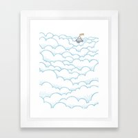 Peak above the clouds Framed Art Print