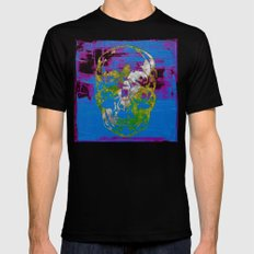 the 4i skull - mixed media on canvas Mens Fitted Tee Black SMALL