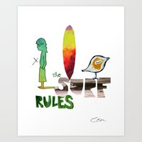 The Surf Rules Art Print