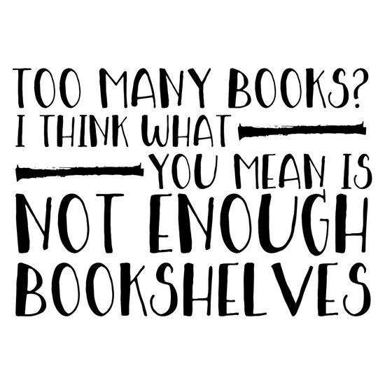 Too Many Books Art Print