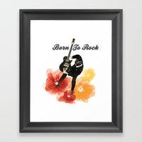 Born to Rock Framed Art Print
