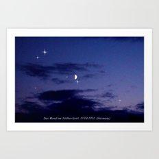 Mond am Südhorizomt. Art Print