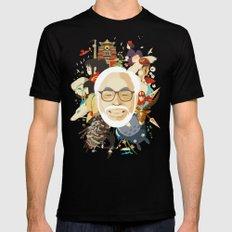 Miyazaki-San Mens Fitted Tee SMALL Black