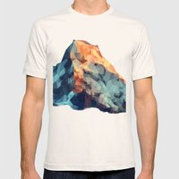 Mountain low poly Mens Fitted Tee Natural SMALL