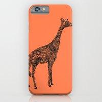 iPhone & iPod Case featuring Designer Giraffe Coral by Suburban Bird Designs