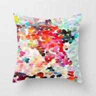 Throw Pillow featuring Please, Please, Please by Three Of The Possess…