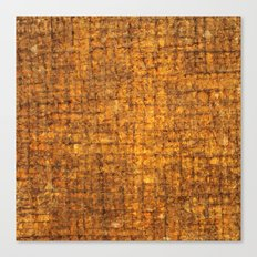 Yellow wooden textured background Canvas Print