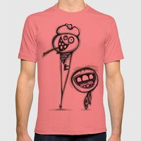 Us And Them Mens Fitted Tee Pomegranate SMALL