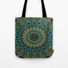 Peacock Abstract Tote Bag