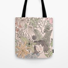 Alone In The Flowers Tote Bag