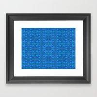 Blue Green Layers Framed Art Print
