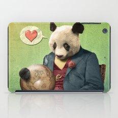 Wise Panda: Love Makes the World Go Around! iPad Case